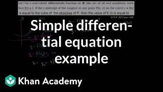 Simple Differential Equation Example