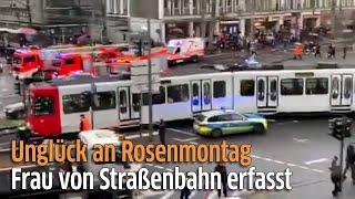 Köln: Unfall mit KVB-Bahn am Barbarossaplatz