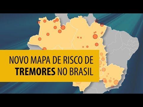 USP atualiza mapa de risco de tremores de terra no Brasil