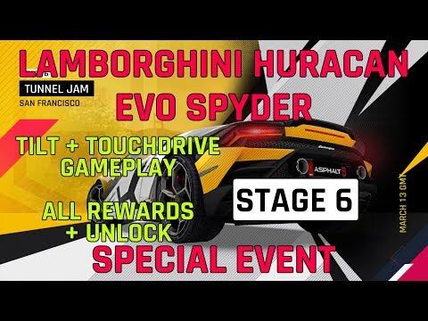 Estágio 6 Lamborghini Huracan Evo Spyder Evento especial