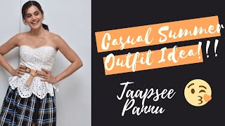 Want To Know More About Taapsee Pannu's New Casual Wear Look For Occasions.