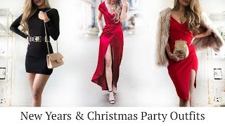 New Years & Christmas Party Outfits | Holiday Lookbook 2018