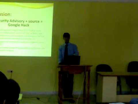 Google Hacks Part5 Seminar Topic: Google hacks By: Nutan Kumar Panda        7th Sem, IT, The Techno School Bhubaneswar Special Thanks to Ritesh Sir-Appin technology Lab, Bhubaneswar   Uploaded by pp4uever on Oct 05, 2010   The Techno School, Bhubaneswar