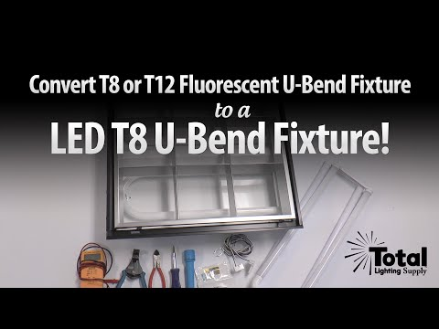 Convert T8 or T12 Fluorescent U-bend Fixture to LED T8 U-bend Fixture