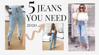 5 Jean Trends You Need Now | 5 Denim Must Haves 2020