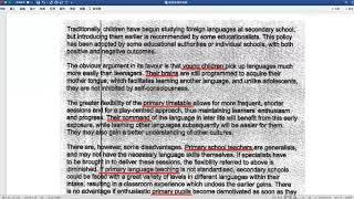 雅思经典大作文分析:小学学习外语 vs 初中学习外语