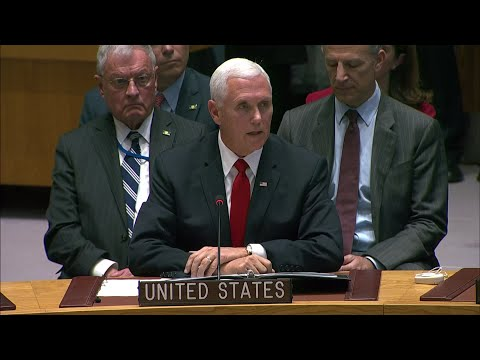 Vice President Mike Pence called on UN leaders to recognize interim Venezuelan President Juan Guaido and revoke the credentials for the country's current UN ambassador. (April 10)
