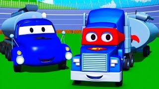 Carl  the Super Truck and the Tanker in Car City | Trucks Cartoon for kids