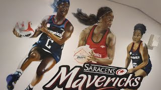 Saracens Mavericks Womans Netball Mural
