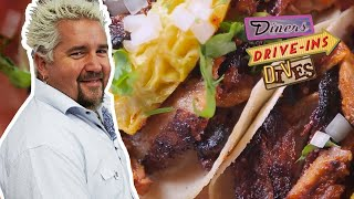 These Tacos Al Pastor Take Guy Fieri STRAIGHT To Flavortown | Diners, Drive-Ins And Dives