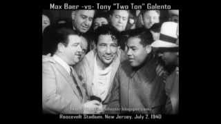 Max Baer -vs- Tony Galento | All Rounds w/Postfight (16mm Transfer)