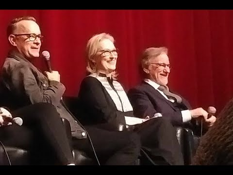 THE POST talk with Meryl Streep, Tom Hanks, Steven Spielberg & crew - November 27, 2017