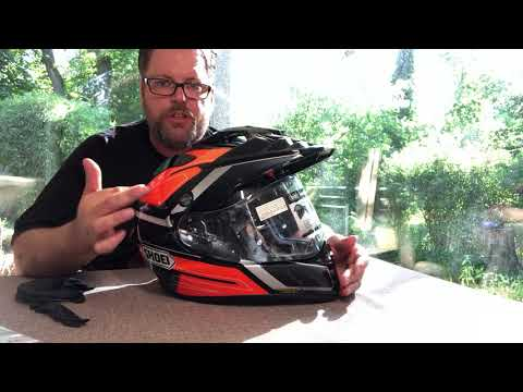 Helm Shoei Hornet ADV unboxing Deutsch top Helm