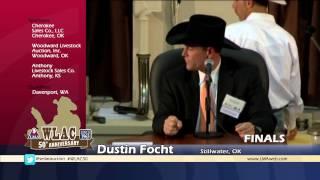 Dustin Focht - 2013 World Livestock Auctioneer Champion