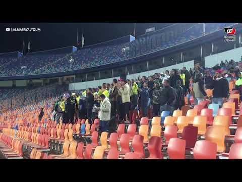 جماهير طنطا تؤازر فريقها من مدرجات ستاد القاهرة قبل مواجهة الأهلي