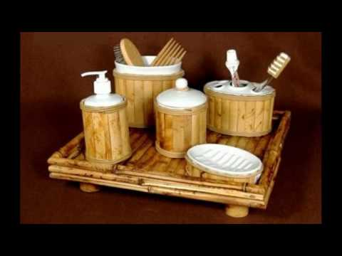 Bamboo design bathroom accessories
