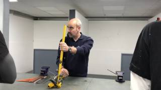 Measuring copper pipe before bending