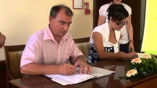 Podpis pogodb projekta Oskrba s pitno vodo Pomurja - Sistem C