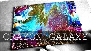 DIY Galaxy With Melted Crayons ● Galaxia De Crayones Derretidos