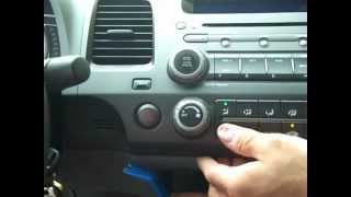 How to Honda Civic Car Stereo radio Bose Removal and Repair 2006 - 2011 replace cd