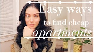 EASY WAYS TO FIND CHEAP APARTMENTS IN YOUR AREA