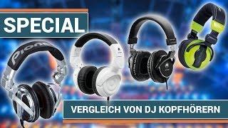 Die besten DJ Kopfhörer - HDJ-1000 vs. American Audio HP550 vs. Omnitronic SHP-900 vs. SHP-5000