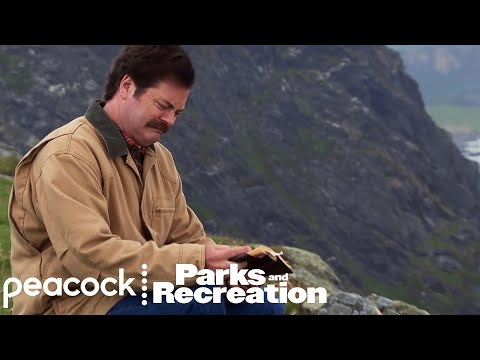 In Parks and Recreation, Ron Swanson's visit to Scottish Island looks like a perfect tourism advertisement