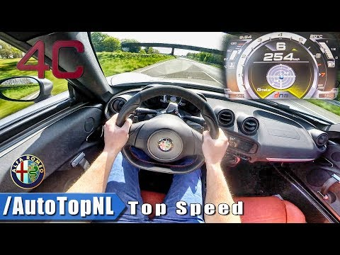 Alfa Romeo 4C TOP SPEED & ACCELERATION POV on AUTOBAHN Test Drive & Sound