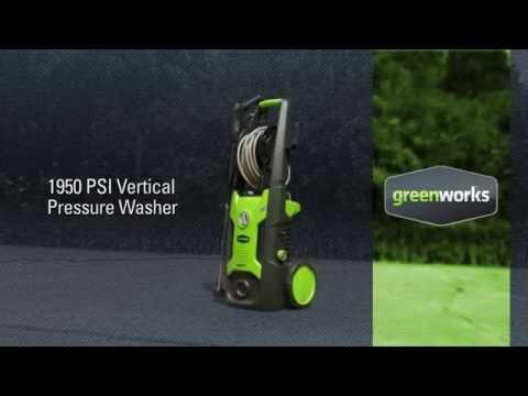 Nettoyeur haute pression Greenworks 1700 Watts - 130 bars - 420 Litres de débit