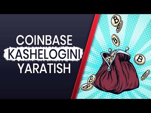 COINBASE KASHELOGINI YARATISH