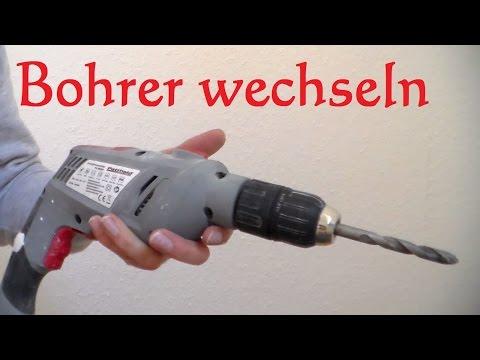 Bohrer bei Schlagbohrmaschine wechseln - Schlagbohrmaschine Bohrer einspannen