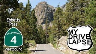 California 4 over Ebbetts Pass, Westbound: Dashcam