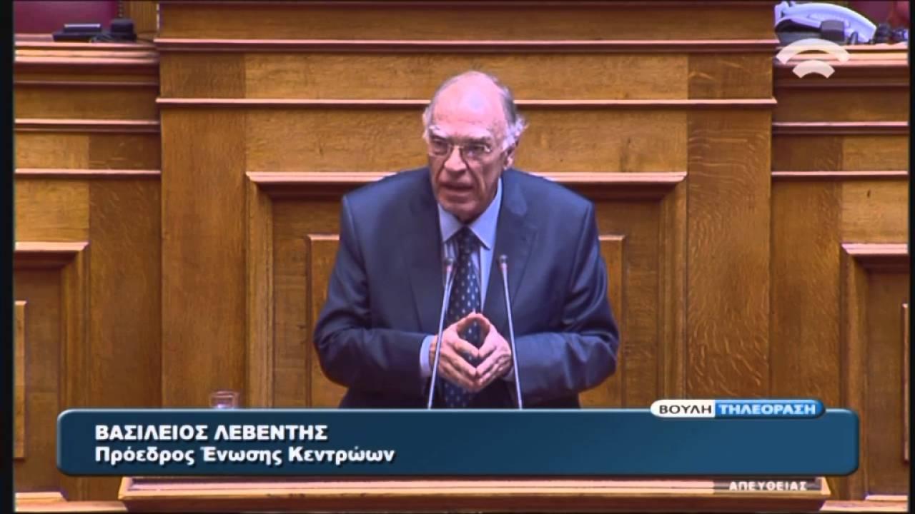 Β.Λεβέντης(Πρόεδρος Εν.Κεντρώων)Προ Ημερησίας Διατάξεως Συζήτηση(Ασφάλεια Πολιτών)(20/04/2016)