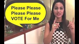 Bigg Boss 11 - Hina Khan Desperately Asking Fans To Vote For Her