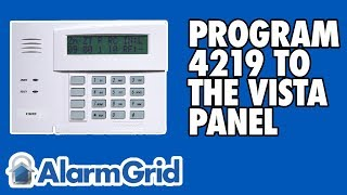 Programming the 4219 to a Vista P series panel