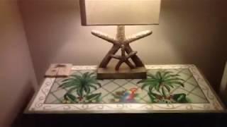 Colorful Scarlet Macaw & Palm Tree Art 1 Strath Court Palmetto Dune