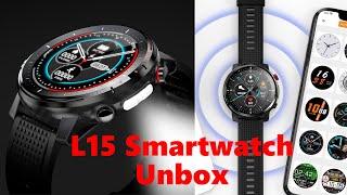 L15 Sport Smart Watch Unbox-Amazfit Santos 3 Copy-Add Clock Face/Super Retina Display/Long standby