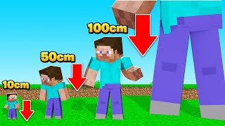 We KEEP Getting SMALLER & SMALLER In MINECRAFT! (tiny)
