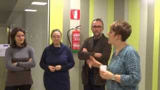 preview picture of video 'Aruna & Hari Sharma in BBK Talent Residence Welcome Reception, Bilbao, Jan 22, 2014'