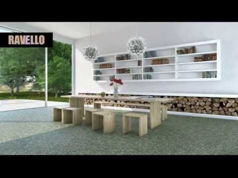 RAVELLO Steinteppich - Das Original. Bodenbeschichtung aus Marmorkieseln für Indoor & Outdoor.