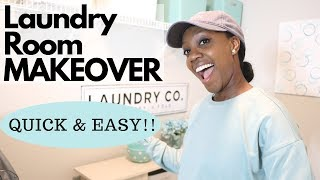 Laundry Room Makeover | Super Simple, Quick, & Affordable Renter Friendly  DIY Laundry Room Makeover