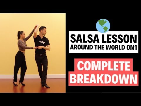 Salsa On 1 - Intermediate Salsa Lesson - Around The World (FULL BREAKDOWN) | TheDanceDojo.com