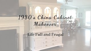 1980s China Cabinet Makeover