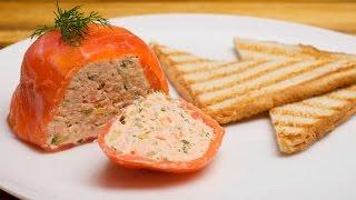 Рыбный паштет из семги (лосося). Рецепт паштета из красной рыбы.