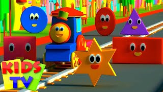 Bob The Train | Adventure with Shapes | Shapes for Children | Shape Song | Kids tv Songs