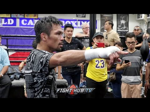 WOW!! MUST WATCH MANNY PACQUIAO BEGGED TO STOP TRAINING BUT REFUSES TO STOP