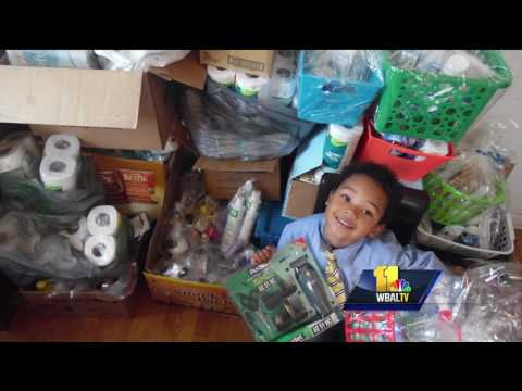 Video: 5-year-old author packs 'hero bags' for veterans