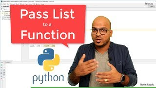 #37 Python Tutorial for Beginners | Pass List to a Function in Python