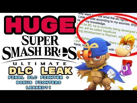 HUGE Smash Ultimate DLC Leak! FINAL DLC FIGHTER + BONUS FIGHTERS LEAKED?!