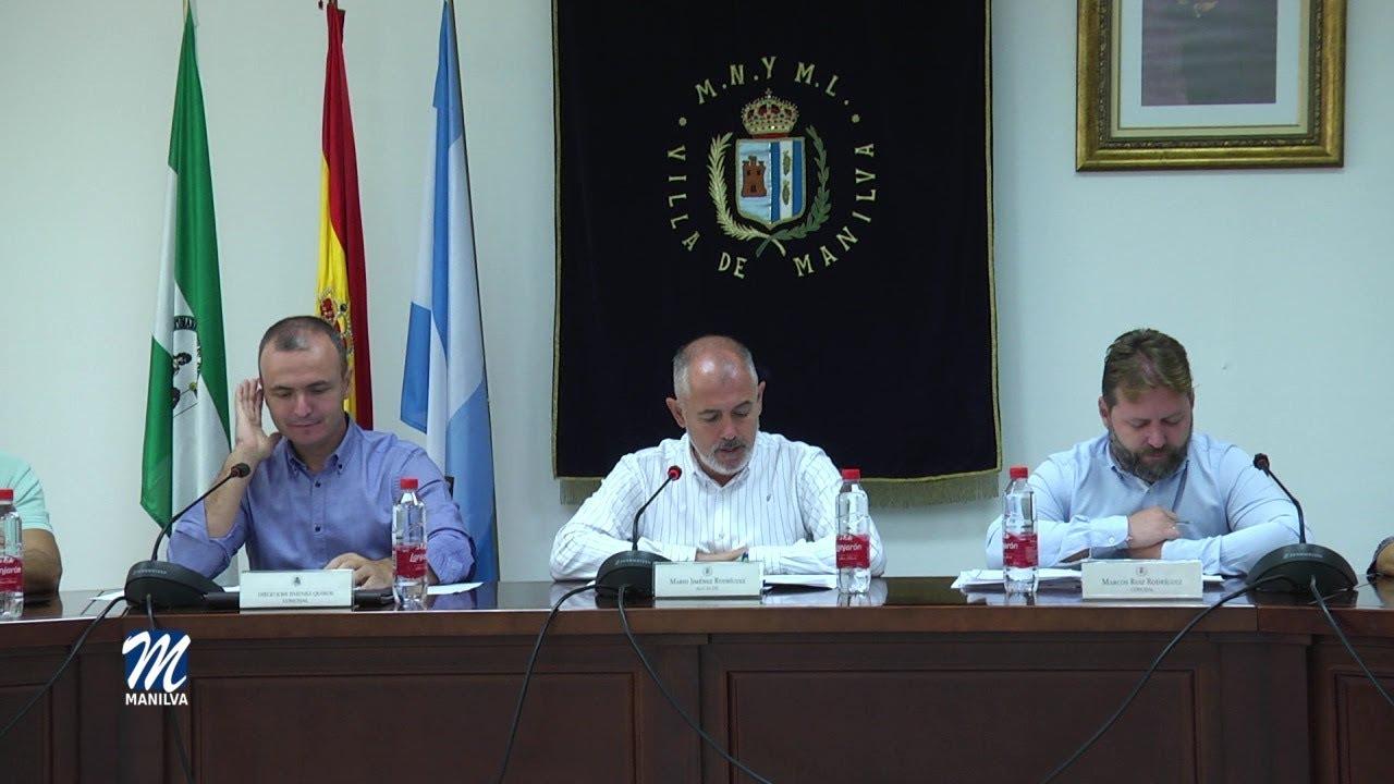 EL JUEVES SE CELEBRÓ UN PLENO ORDINARIO EN EL AYUNTAMIENTO DE MANILVA